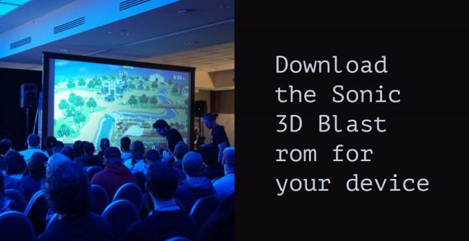 sonic 3D blast rom