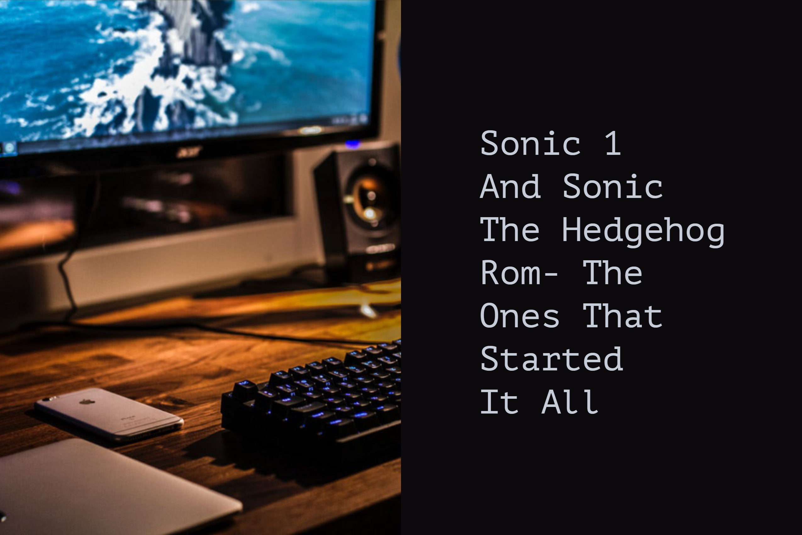 Sonic 1 And Sonic The Hedgehog Rom The Ones That Started It All Sonic Dr